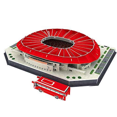 ZHX Papel Puzzles 3D, Wanda-Metropolitano Juegos de construcción 3D de construcción Juegos de construcción, Kits de Juguetes educativos para niños y Adultos, Regalo para niños y niñas
