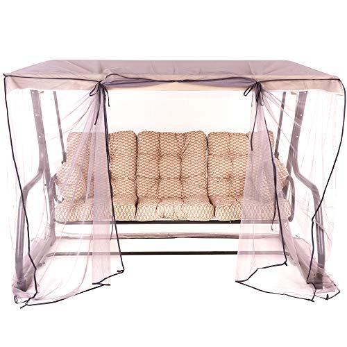PATIO 3-Sitzer Hollywoodschaukel Celebes Plus Gartenschaukel Sitzpolster Sonnendach Moskitonetz Klappbar Liegefunktion H031-05PB 170 cm