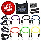Bodylastics Stackable (14 Pcs) MAX XT Resistance Bands Sets. This Leading Exercise Band System Includes 6 of Our Anti-Snap Exercise Tubes, Heavy Duty Components, and a Travel Bag