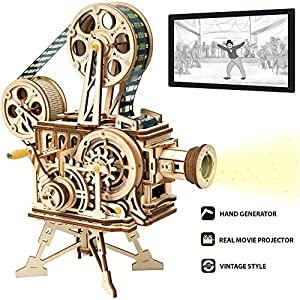 ROKR 3D Wooden Puzzle Mechanical Model Kits for Adults DIY Craft Kits Vitascope by Rokr