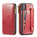 [Material]: 100% Brand new and high quality Genuine PU Leather,Fit for Men Women Girl Boy Unisex ,Best gift for Christmas Thanksgiving Father's day Mother's day; [Size]: Perfect fits for Apple iPhone X 2017 iPhone XS 2018 5.8inch 2018 ,[Three Color]:...