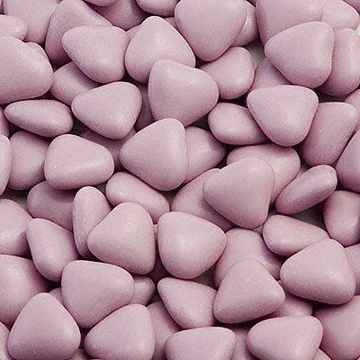 Lila Mini Hart Chocolade Dragees Bruiloft Favoriete Snoepjes (