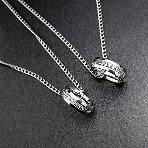Relovsk Koppels Set Koppels Set Ring Ketting Elegante Definite mannen Flat Chain 50Cm Ring 6