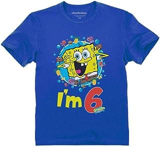 Official Spongebob - 6th Birthday I'm 6 Toddler Kids T-Shirt