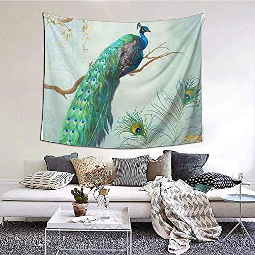 N-X Aqua Blue Elegante Pfauenfedern AST AST WandteppichWandbehang Wanddekoration Wohnkultur StranddeckeIndianerfür Schlafzimmer Wohnheim Home 150x102cm