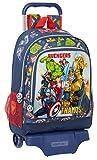 safta Mochila Infantil de Avengers Heroes Vs Thanos, Modelo 522 con Carro 905, 320x420x140mm, azul marino/multicolor