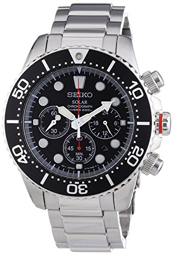 Seiko Men's SSC015P1 Chronograph Solar Power Stainless Steel Watch