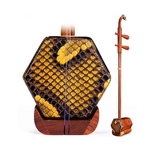 Erhu Musikinstrument, Kinder Erwachsene Anfänger Handgefertigte Professionelle Universal-Instrument, Red Palisander Erhu, Rot Palisander Stem (Farbe: Natur) HUERDAIIT (Color : Natural)