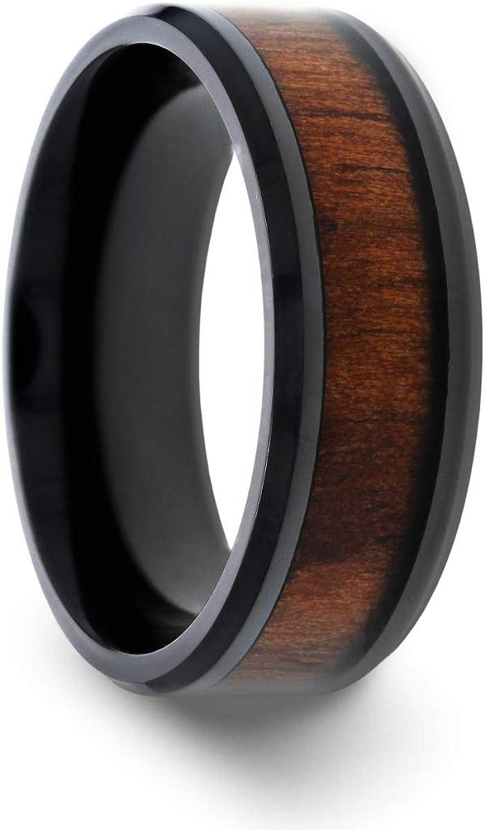 Thorsten Kony Titanium Ring Pol Black Comfort Fit Popular standard Max 64% OFF