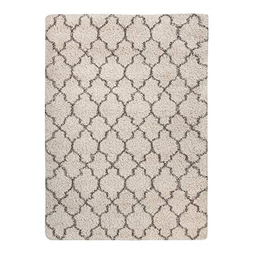 Signature Design by Ashley - Gate Rug - 7x10 Area Rug - Tufted - Imported - Cream