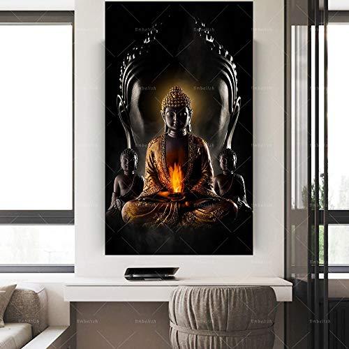 Puzzle 1000 Piezas Estatua de Dios Zen Buda Puzzle 1000 Piezas clementoni Juego de Habilidad para Toda la Familia, Colorido Juego de ubicación.50x75cm(20x30inch)