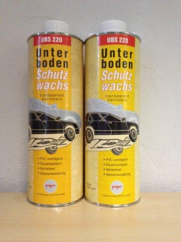 2 X (2X1Liter)Fertan UBS Wachs-Unterbodenschutz 1 Liter Kartusche