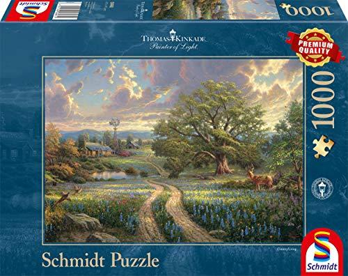 Schmidt - Thomas Kinkade Puzzle, Tematica: Vita Idilliaca in Campagna, 1000 Pezzi