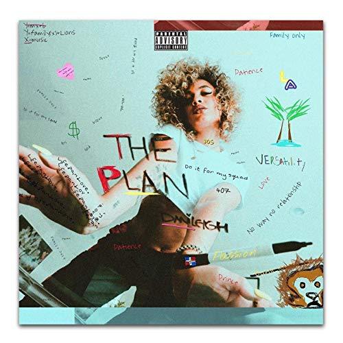 wzgsffs Danileigh The Plan 2018 Pop Music Cover Album Póster E Impresiones Arte De Pared Impresión En Lienzo para Sala De Estar Decorativa-20 X 20 Pulgadas X 1 Sin Marco