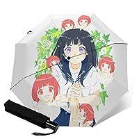 氷菓 (7) 自動三つ折り傘 高強度グラスファイバー8本骨 撥水加工 遮光 遮熱 紫外線対策 晴雨兼用 耐強風超撥水超 軽量み式 おしゃれ デザイン 携帯しやすい 自動三つ折り傘