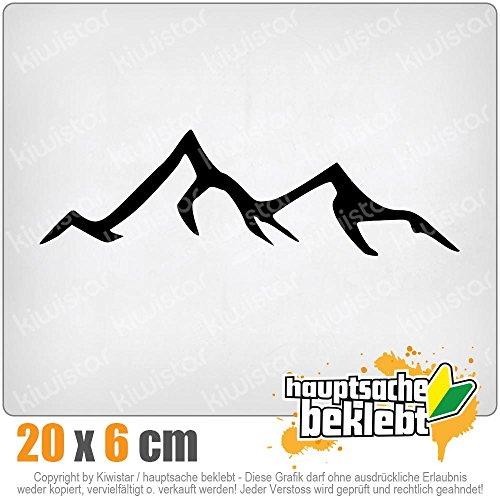 KIWISTAR Wanderer Bergsteiger 20 x 6 cm IN 15 FARBEN - Neon + Chrom! Sticker Aufkleber