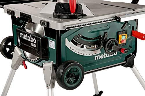 Metabo Tischkreissäge TS 254 / mobile Kreissäge mit Untergestell, Trolleyfunktion und extra starkem 2000 W Motor, Arbeitshöhe 850 / 335 mm - 3