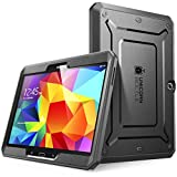 SupCase [Unicorn Beetle PRO Series Case for Samsung Galaxy Tab 4 10.1 inch Tablet, Full-Body Rugged Hybrid Protective Cover with Built-in Screen Protector (Black)