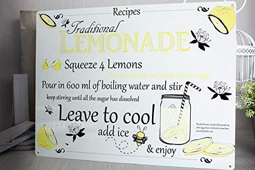 Thomas655 Limonade Recept Metalen bord
