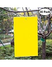 Garsumiss 20 Paquete Trampas de Insectos de Doble Cara Atrapa Insectos para Moscas,Insectos,Piojos,Atrapa,PVC(15x20CM)