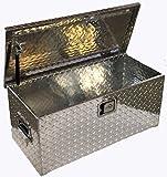 Diamond Plate ATV UTV Aluminum Tool Box Large 31' Universal Fit