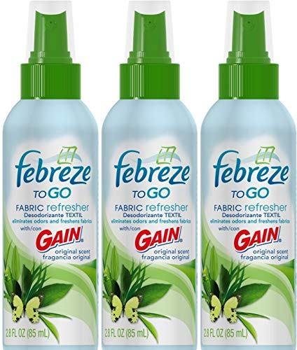 Febreze to Go Fabric Refresher with Gain Original Scent, 2.8-Ounce, (3)