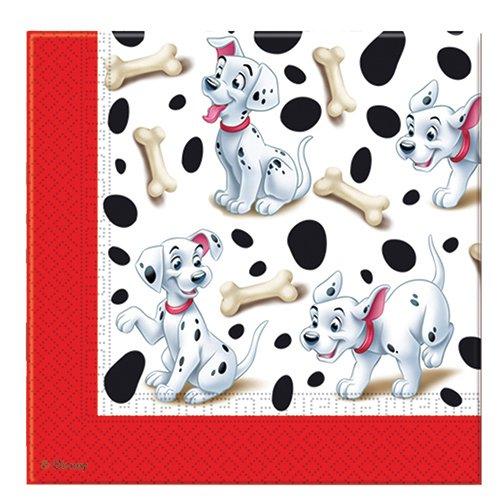 20 tovaglioli di carta Carica dei 101 per feste Dalmata Disney 33x33cm