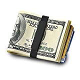 GRAND BAND Money Band , The Rubber Money Band , GB1800BL, Minimalist Wallet (NO ENGRAVING)
