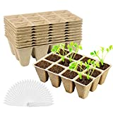Macetas para Plantas Biodegradable,macetas de turba para plantas,Invernadero de propagación,Macetas de Fibra,Semilleros Biodegradables Macetas,Bandeja de propagación de Invernadero macetas (10 piezas)