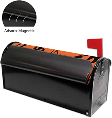 ZhiMi Mailbox Stickers Magnetic PVC Waterproof Sunscreen Fully Fit The Mailbox 2 Sizes Halloween Witches Flying on Broomsticks