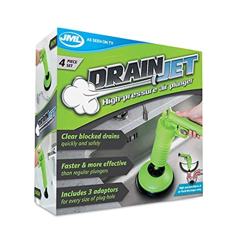 Drain Jet - Solution manuelle haute pression conçu pour nettoyer et déboucher rapidement et en toute sécurité vos canalisations