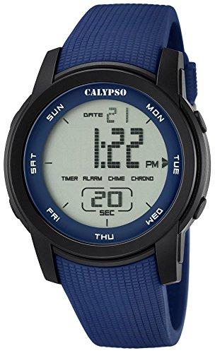 Calypso Herrenarmbanduhr Quarzuhr Kunststoffuhr mit Polyurethanband Alarm-Chronograph digital alle Modelle K5698, Variante:02