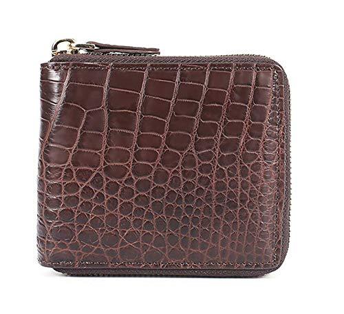 EEKUY Pocket Portemonnee voor Mannen Vrouwen, Krokodil Lederen Rits portemonnee met foto Bits Bankbiljet Bit En 8 Card Slots 4.13 X 4.5 X 1 Inch (5 Kleuren om uit te kiezen)