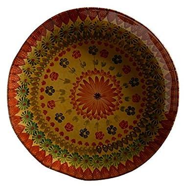 Festa Flower Large Round Platter - Italian Dinnerware - Round Serving Platter - Handmade in Italy from our Festa Collection