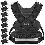 Aduro Sport Adjustable Weighted Vest Workout Equipment, 26lbs-46lbs Body Weight Vest for Men, Women,...