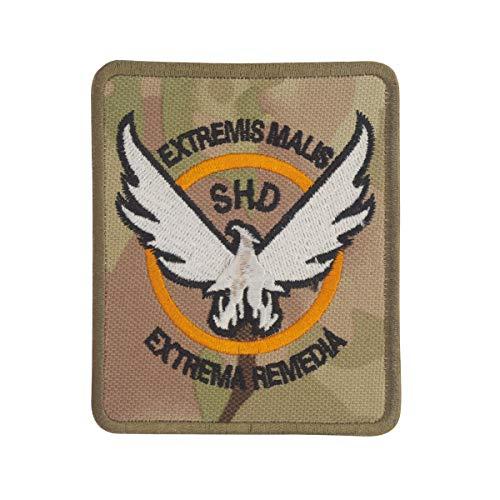 COBRA Tactical Solutions The Division SHD Extremis Malis Extrema Remedia Camo Military Besticktes Patch mit Klettverschluss für Airsoft Cosplay Paintball für Taktische Kleidung Rucksack