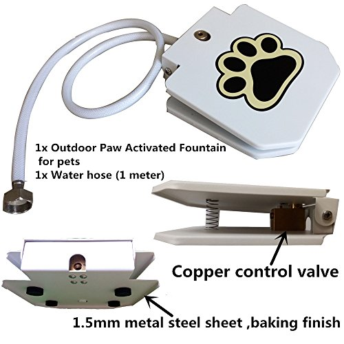Automatic Doggie Water Fountain Dog Sprinkler Dispenser Paw Activated for pets by Happygo
