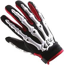 Youth Motocross Gloves Motorcycle BMX MX ATV Dirt Bike Bicycle Skeleton Cycling Kids Gloves White
