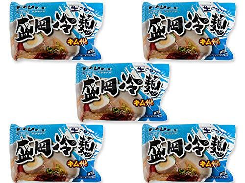 盛岡冷麺2食分×5袋(トトリフーズ キャベツキムチ入り)ととり特製ダレ 生冷麺 キムチセット 韓国冷麺とは違う美味しさ 元祖きゃべつきむち 特製冷麺・スープ