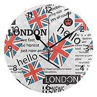 SoreSore(ソレソレ)掛け時計 置き時計 壁掛け時計 時計 インテリア 連続秒針 かわいい 北欧 おしゃれ 円型 部屋飾り リビング プレゼント ギフト 贈り物 ランドン 英国 国旗 かわいい 可愛い