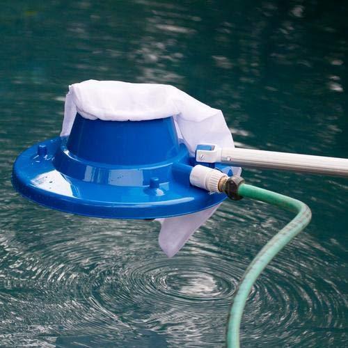 Lifesongs Poolsauger,Pool Staubsauger Blatt Staubsauger Schwimmbad Nützlicher Saugkopf Mit Schneller Reinigung, Bürsten Und Schwenkruten (Blau)
