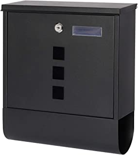 """Decaller Metal Mailboxes with Sturdy Key Lock, Wall Mounted Waterproof Mail Box with Transparent Cover, 11 4/5"""" x 3 3/5"""" x..."""