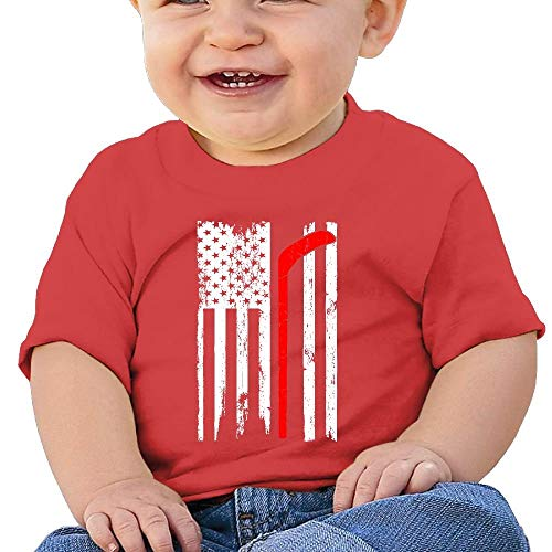 Baby Girls Infant Ironworker America Flag Short Sleeve Tshirts