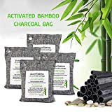 Thten 200g/4pack Bamboo Charcoal Air Purifying Bags, Activated Charcoal Odor Eliminators, Natural Non-Toxic
