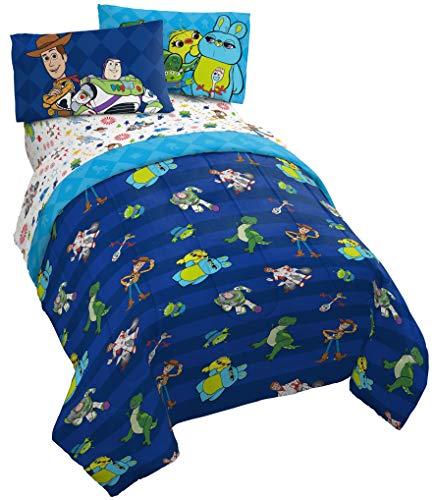 Jay Franco Disney Toy Story Buzz und Woody Bettwäsche-Set für Doppelbett, 4-teilig, inkl. Wendedecke & Bettlaken, superweiche, farbechte Mikrofaser, offizielles Disney-Produkt