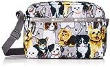 LeSportsac Puppy Park Daniella Crossbody Handbag, Style 2434/Color F758, Adorable & Colorful Puppies/Dogs, Golden Retriever, Boston Terrier, Jack Russel, Dalmatian, Yorkie + more