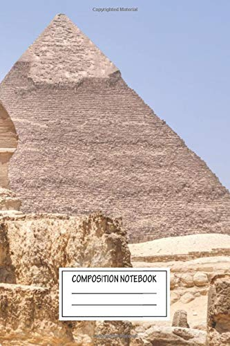 Composition Notebook: Landscapes Great Sphinx Of Giza Giza Cairo Egypt Africa Landscape Wide Ruled Note Book, Diary, Planner, Journal for Writing