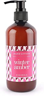 Kimirica Winter Amber Mandarin and Cinnamon Hand Lotion, 100% Vegan & Paraben Free, 300ml