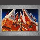 WLHZNB Impresiones sobre Lienzo Arte De La Pared Pintura 1 Pieza Pesadilla Antes De Navidad Carteles De Halloween Foto De La Pared Decoración del Hogar (Tamaño 1) Sin Marco