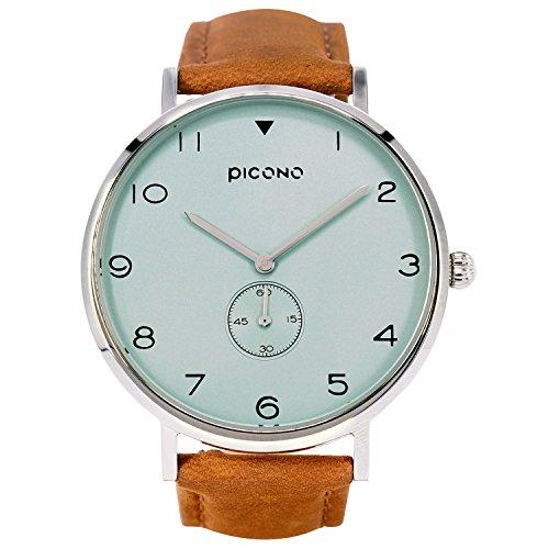 PICONO espía S Series–Multi Dial resistente al agua analógico reloj de cuarzo–no. ys-7204verde